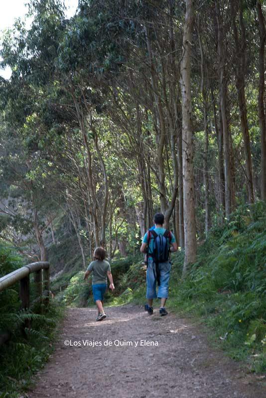 Caminando hacia las huellas de los dinosaurios en Asturias
