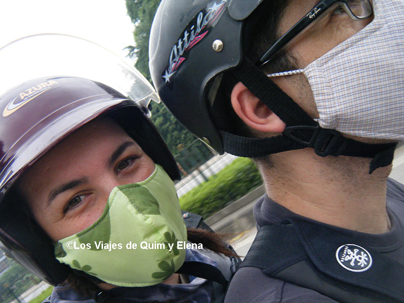Nosotros en moto por Vietnam hace 10 años