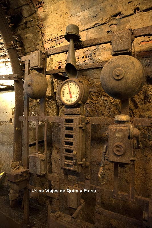 La máquina de señales en el museo minero