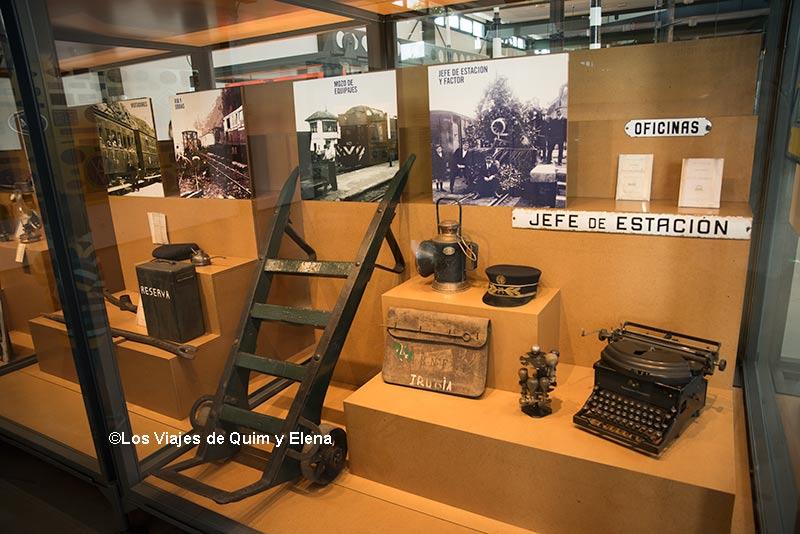 Exposición del museo del Ferrocarril de Asturias
