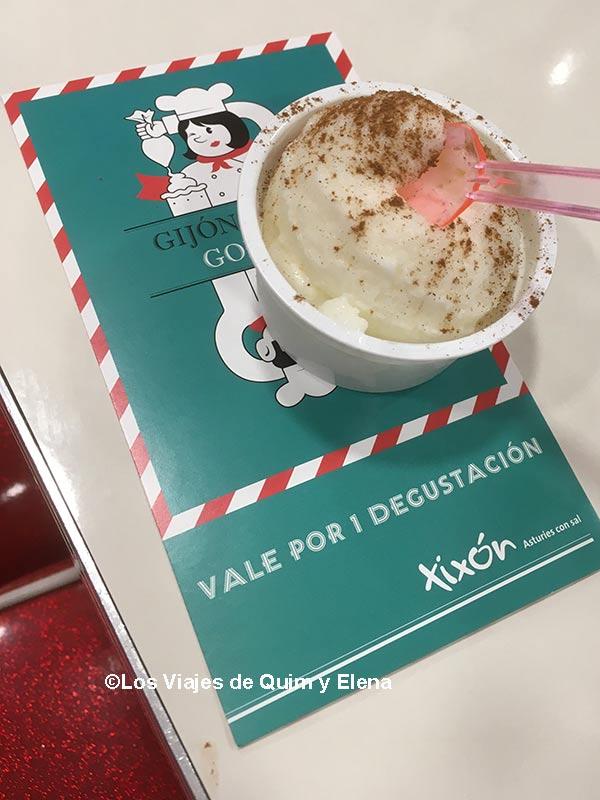 Helado de arroz con leche, Gijón Goloso