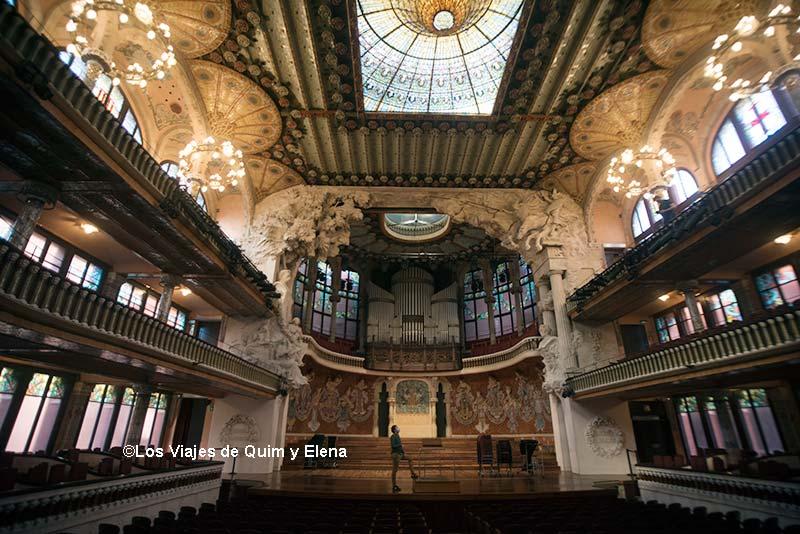 Vista del escenario del Palau de la Música