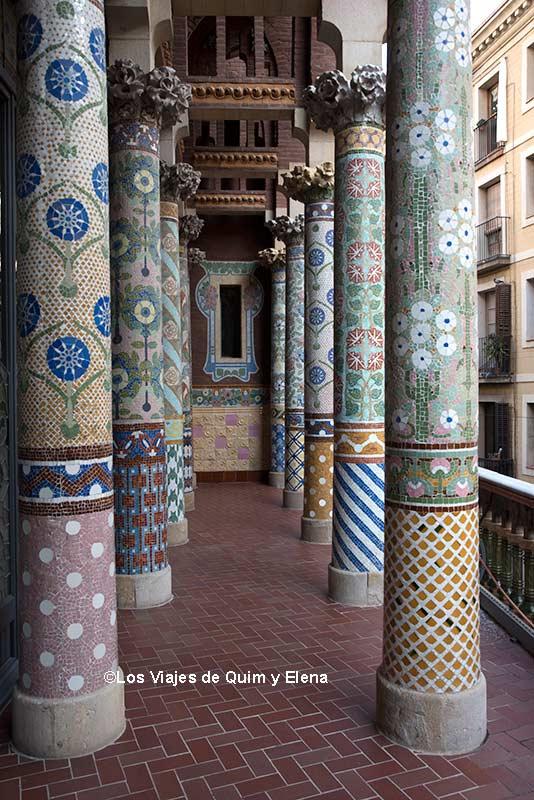 Las columnas del Palau de la Música