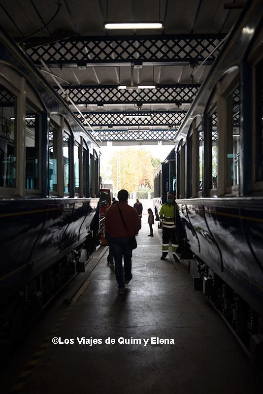 Entre tranvías en las cocheras