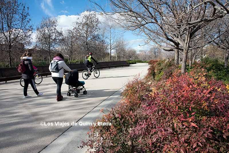 Paseando por el Parque Madrid Río