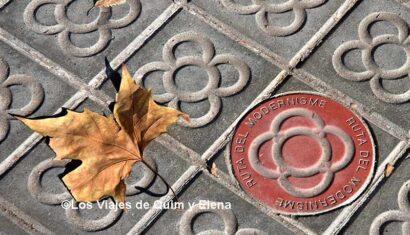Panot de la ruta del modernisme en Barcelona